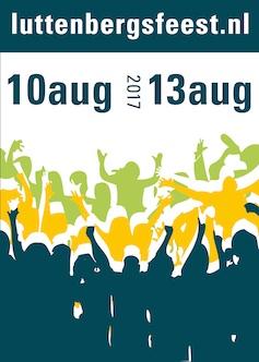 Affiche met programma Luttenbergs feest